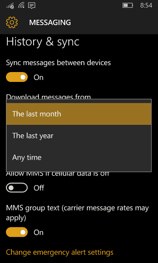 2 back up messages windows 10 mobile
