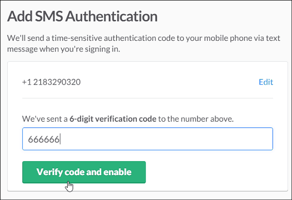 4 enter verification code