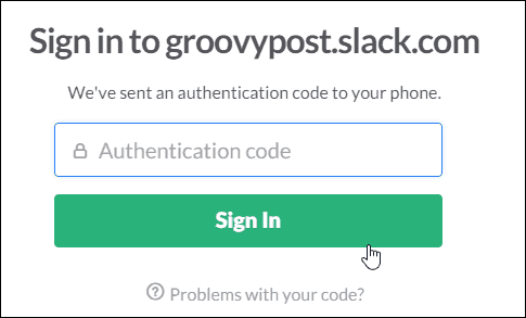 7 type in verification code to sign back in