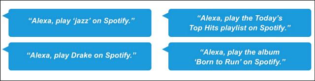Amazon Echo Spotify Voice Commands