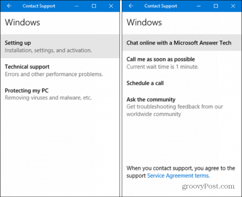 Contact MSFT Support app