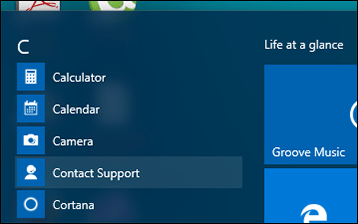 Start Contact Support