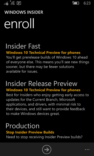 Windows 10 Mobile Insider Release Preview