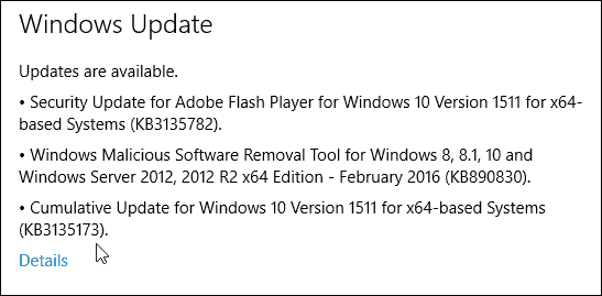 Windows 10 Update KB3132723
