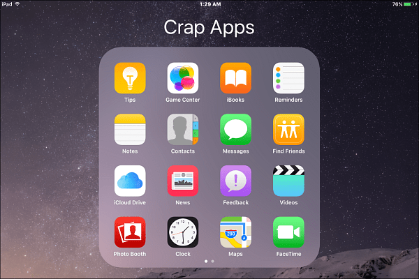 crap Apple apps