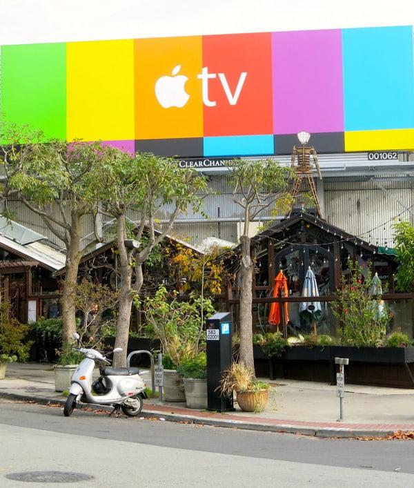 apple TV over cafe flora