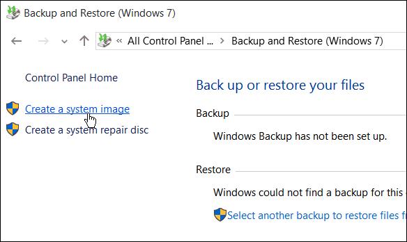 Create Windows 10 System Image