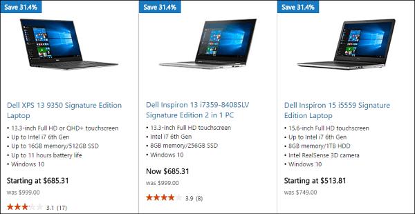 Dell XPS Microsoft Store