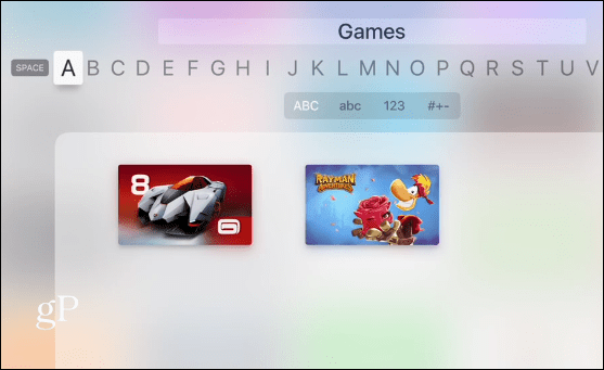 Folder Apple TV