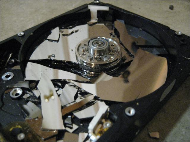 Shatter hard disk