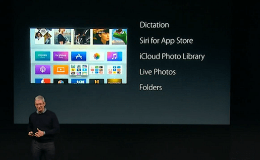 Tim Cook New Apple TV Features