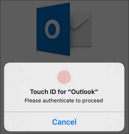 Touch ID Outlook iPhone