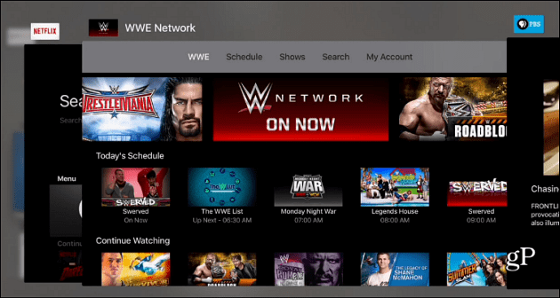 switching apps Apple TV