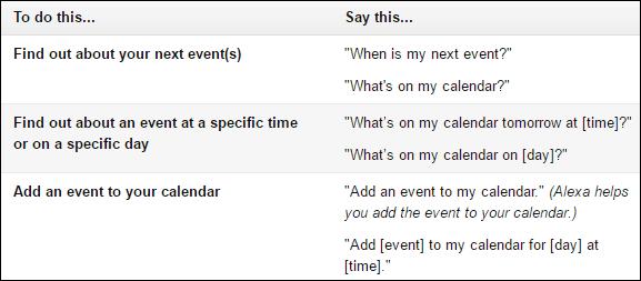 Echo Calendar tips