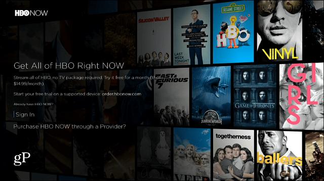HBO Now Xbox App