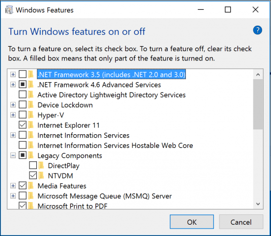 16 bit windows subsystem fix: