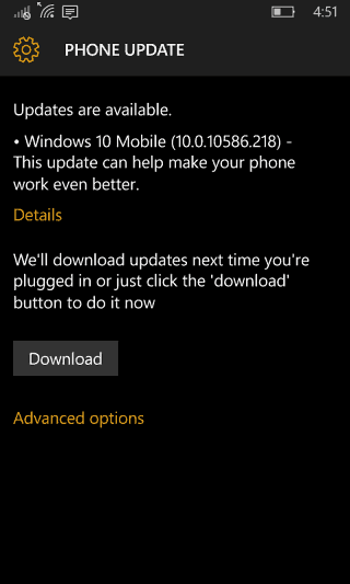 Windows 10 Mobile April Update
