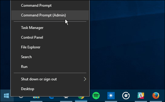 power user menu windows 10
