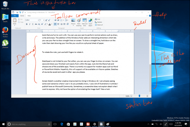 Getting Started With The Windows 10 Inking Feature