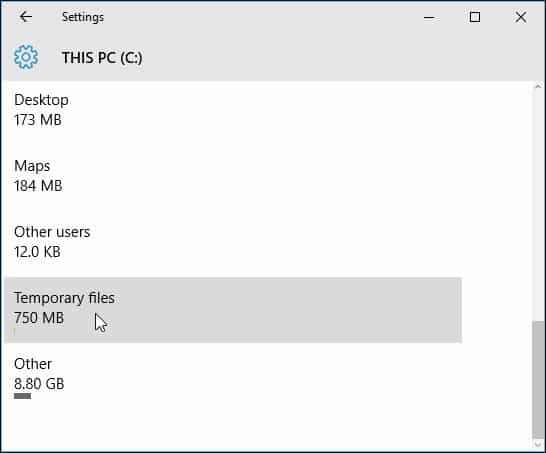 temp files