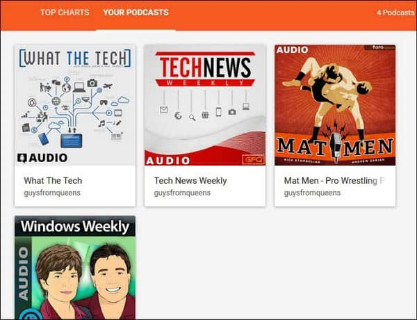 your podcasts