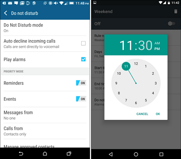 Android Tip: Turn On and Schedule Do Not Disturb