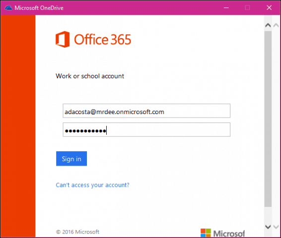 How to Add a Business Account Windows 10 OneDrive and Mobile