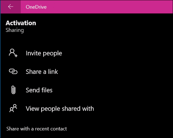 OneDrive app windows 10 8