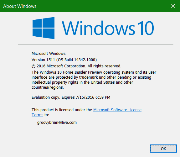 Windows 10 Preview 14342