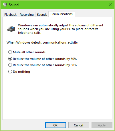 adjust sound communication