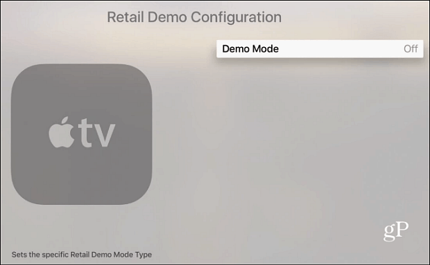 apple TV Demo Mode