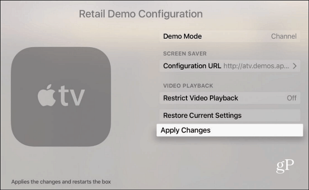 enable demo mode changes