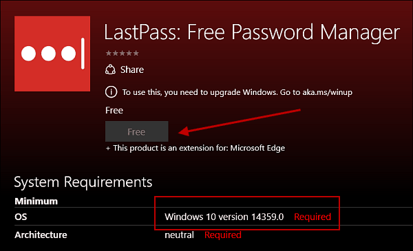 lastpass requirements