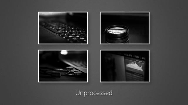unprocessed images sample Photoshop batch edit