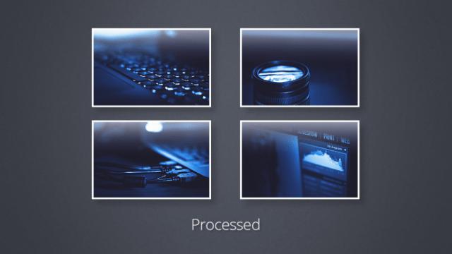 processed images sample Photoshop batch edit