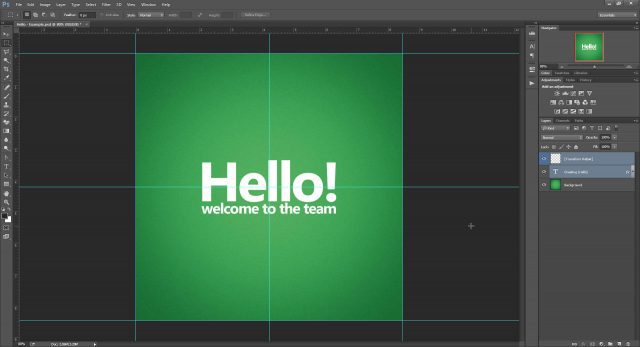 Cheat Photoshop Text Layer Transformations Trick centered text Photoshop transformation cheat