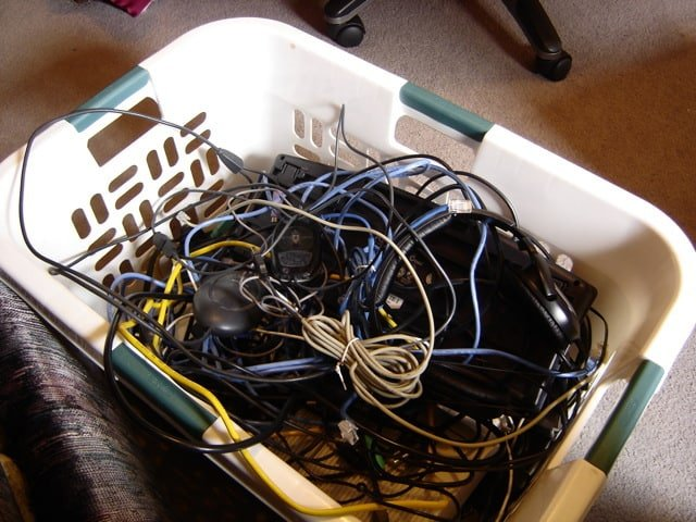 Basket of cables