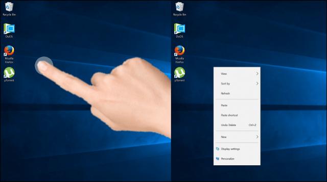 Desktop Right Click