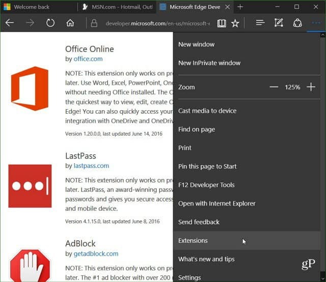 Office Online Extension