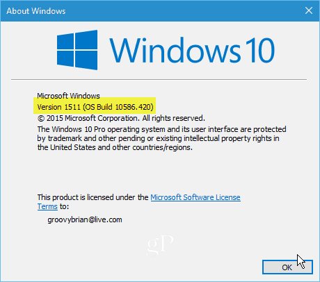 Windows 10 10586-420