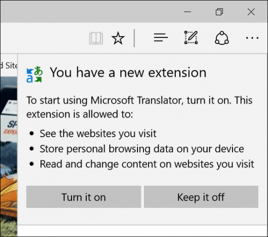 Enable Extension