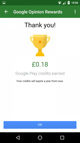 Google Rewards (06) google play credit free apps store music tv shows movies comic books android opinion rewards surveys location credits earned expire