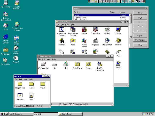 Looking back at windows nt 4 on its 20th anniversary for Window design 4 by 4