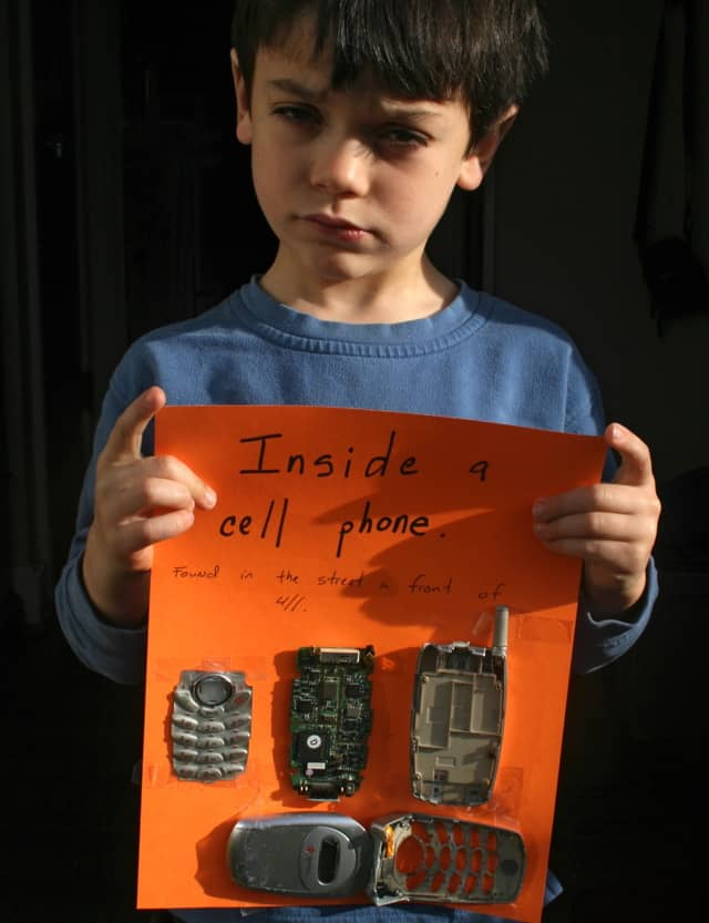 cell phone, interrupted