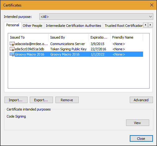 How to Create a Self-Signed Digital Certificate in Microsoft Office 2016