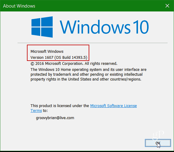 how to find out version of windows running