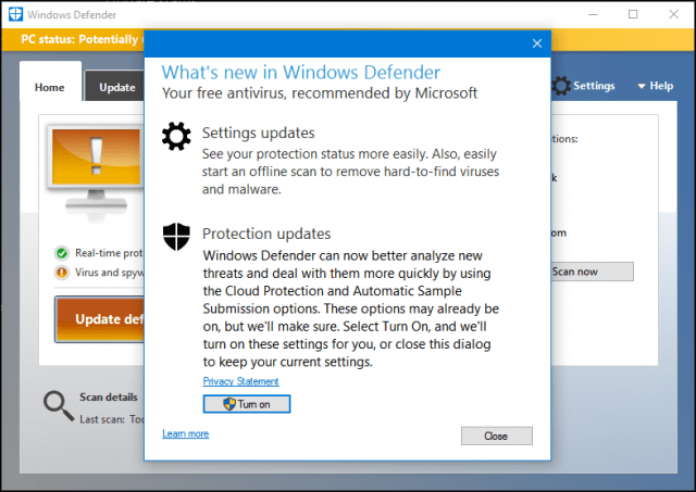 Tutorial using windows defender update definitions and for Window defender update
