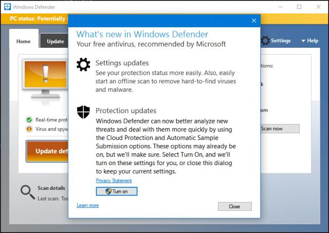Tutorial using windows defender update definitions and for Window defender update