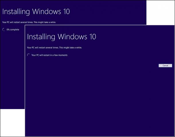 Start of install