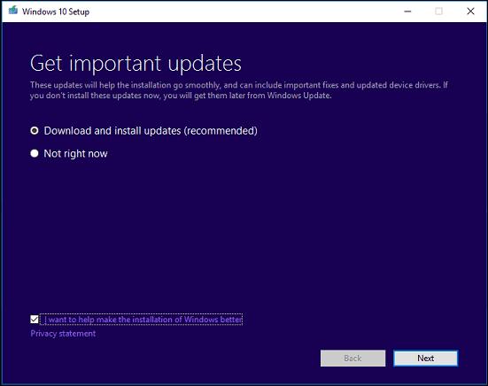 Start upgrade 4